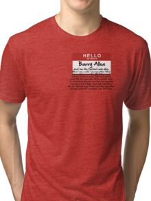 My name is Barry Allen – Season One Tri-blend T-Shirt