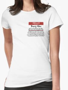 My name is Barry Allen – Season One Womens Fitted T-Shirt