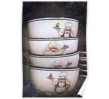 Textured Bowls Poster