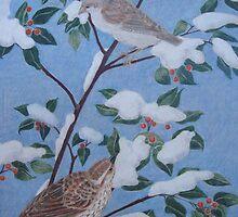 Sparrows in Winter by Susan Genge