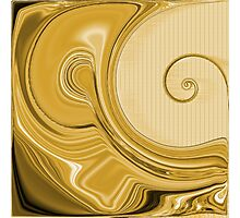 Amber Gold - Curls Design Photographic Print