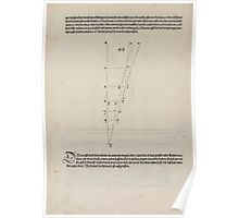 Measurement With Compass Line Leveling Albrecht Dürer or Durer 1525 0162 Repeating and Folding Shapes Poster