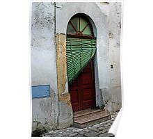 Door with Venetian Blind - Puglia, Italy Poster