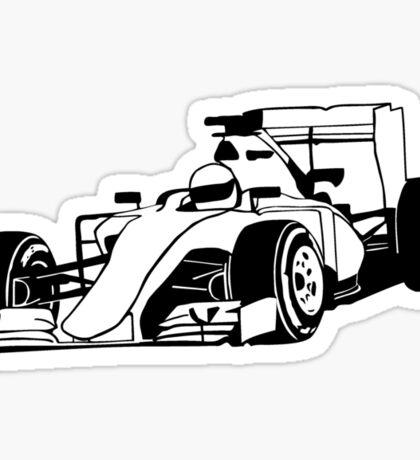 Formula One Racer Sticker