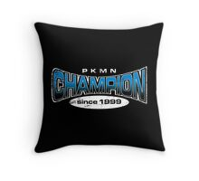 Pokemon Champion_Blue_DarkBG Throw Pillow