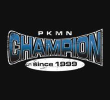 Pokemon Champion_Blue_DarkBG Kids Tee
