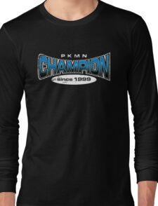 Pokemon Champion_Blue_DarkBG Long Sleeve T-Shirt