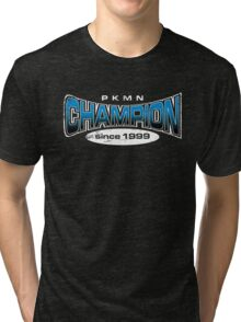 Pokemon Champion_Blue_DarkBG Tri-blend T-Shirt