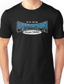Pokemon Champion_Blue_DarkBG Unisex T-Shirt