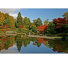 Fall at the Japanese Gardens in the Arboretum Photographic Print