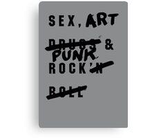 SEX, ART & PUNK ROCK Canvas Print