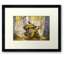 dragons of atlantis dragons (C)(R)tm Framed Print
