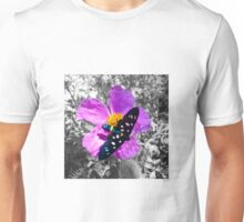 Flower and Butterfly Unisex T-Shirt