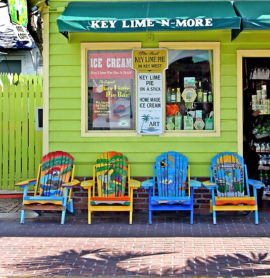 Key Lime Pie Store - Key West, Florida by Debbie Pinard