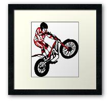 Trial Motorcycle Framed Print