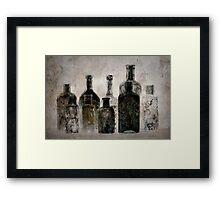 Dark Bottles Framed Print