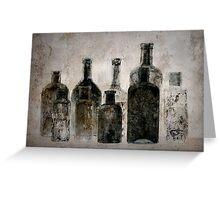 Dark Bottles Greeting Card
