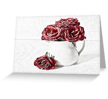 Red roses for a blue lady Greeting Card
