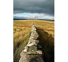 Line Across The Moors Photographic Print
