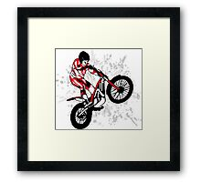 Trial Motorcycle Framed Print