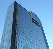 Modern Blue Mirrored Glass Building Architectural Exterior by HotHibiscus