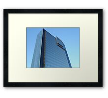 Modern Blue Mirrored Glass Building Architectural Exterior Framed Print