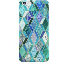 Sapphire & Emerald Diamond Patchwork Pattern iPhone Case/Skin
