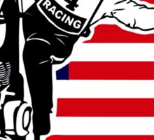 USA Speedway Motorcycle Racing Sticker