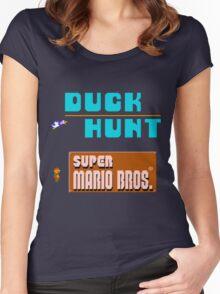 Duck Hunt & Super Mario Bros Women's Fitted Scoop T-Shirt