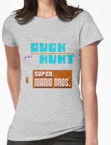 Duck Hunt & Super Mario Bros Womens Fitted T-Shirt