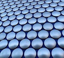 Modern Architectural Silver Circles Exterior of Birmingham Bull Ring by HotHibiscus