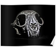 Monster Skull In Black Poster