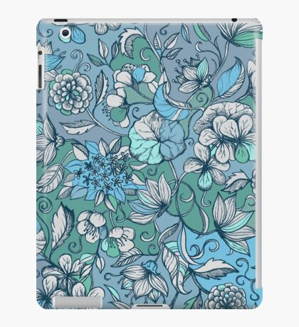 Her Garden in Blue iPad Case/Skin