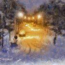Snowy Night  by Gilberte