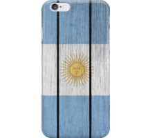 Wooden Flag Of Argentine iPhone Case/Skin