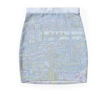 THE MEGATROPOLIS (cool hues) Mini Skirt