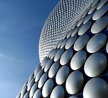 Futuristic Modern Curved Building Exterior of Selfridge's Building in Birmingham by HotHibiscus