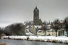 Peebles Old Parish Church in the Snow by Christine Smith