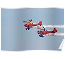 Biplane Wing walkers air show display Poster