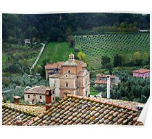 Villa at Chianciano, Tuscany, with Olive trees!! Poster