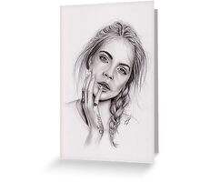 Cara Delevingne Greeting Card