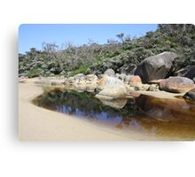 Rock reflections in Tidal River Canvas Print