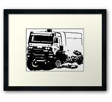 Truck Racing Framed Print