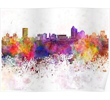 New Haven skyline in watercolor background Poster