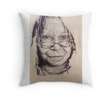 WHOOPI GOLDBERG PORTRAIT Throw Pillow