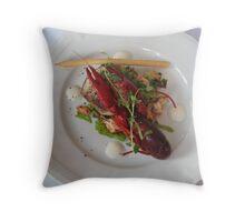 Crayfish Appetizer at Saltsjobaden - Ystad, Sweden Throw Pillow