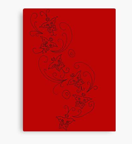 Ada Wong Butterflies Canvas Print