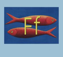 F for fish One Piece - Short Sleeve