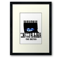 Doctor Who - Vashta Nerada Framed Print