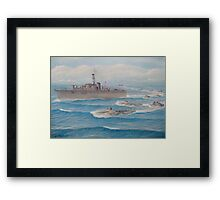 Flotilla 25, Royal Marines, Malaya 1945 Framed Print
